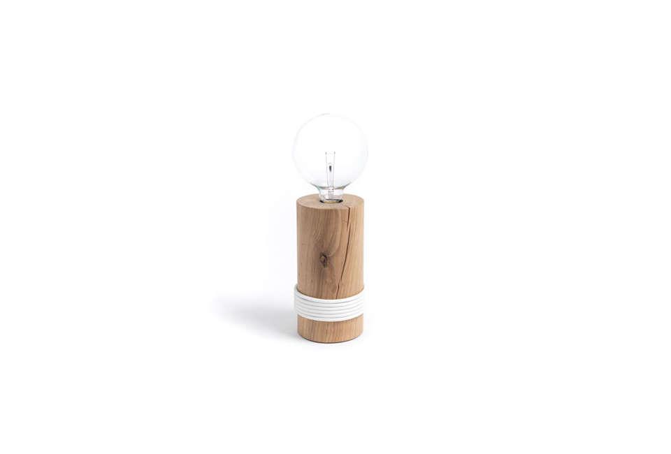 Log Lamp by The Oak Men