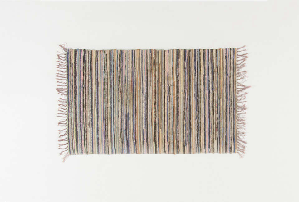 The Öslands Kastlösa Rag Rug,€89 ($0), is one of many vintage Swedish rag rugs available at Rugs of Sweden.