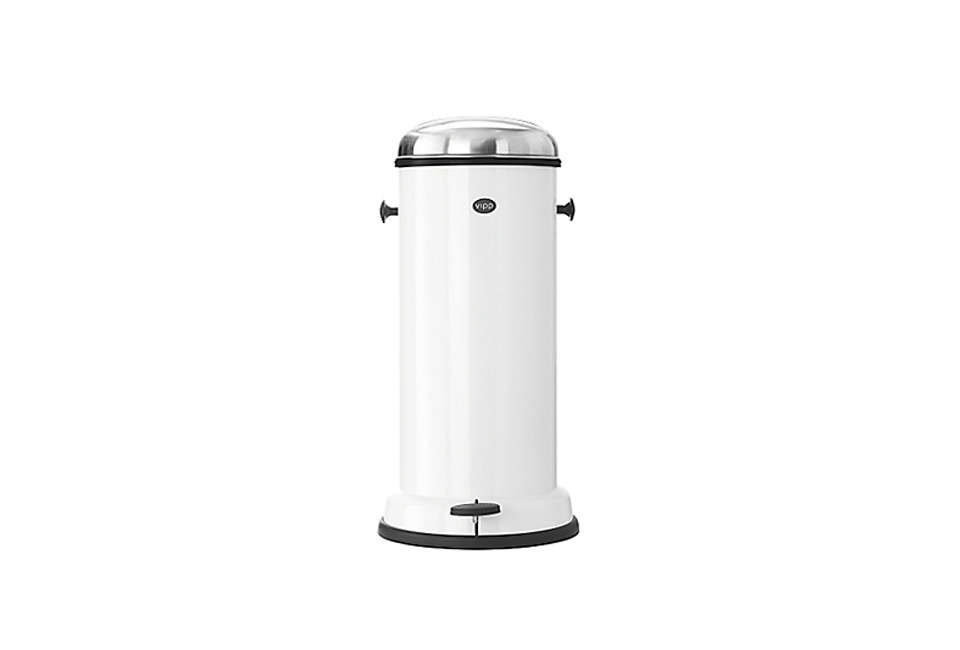 The Vipp  5 Gallon Pedal Trash Bin is $349 from Vipp.
