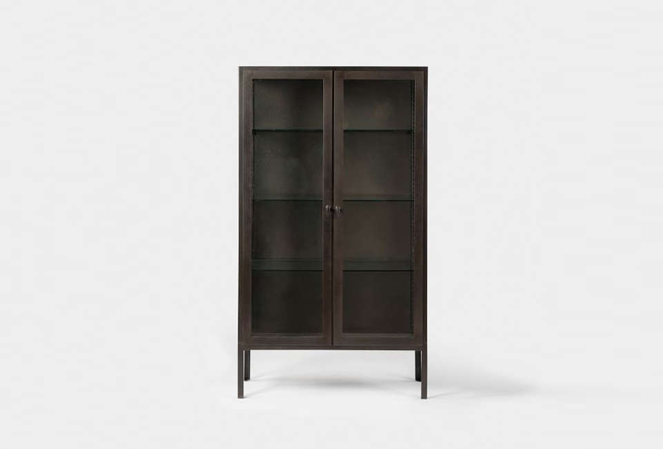 10 Easy Pieces Glass and Steel Display Cabinets West Elm Blackened Metal Display Cabinet