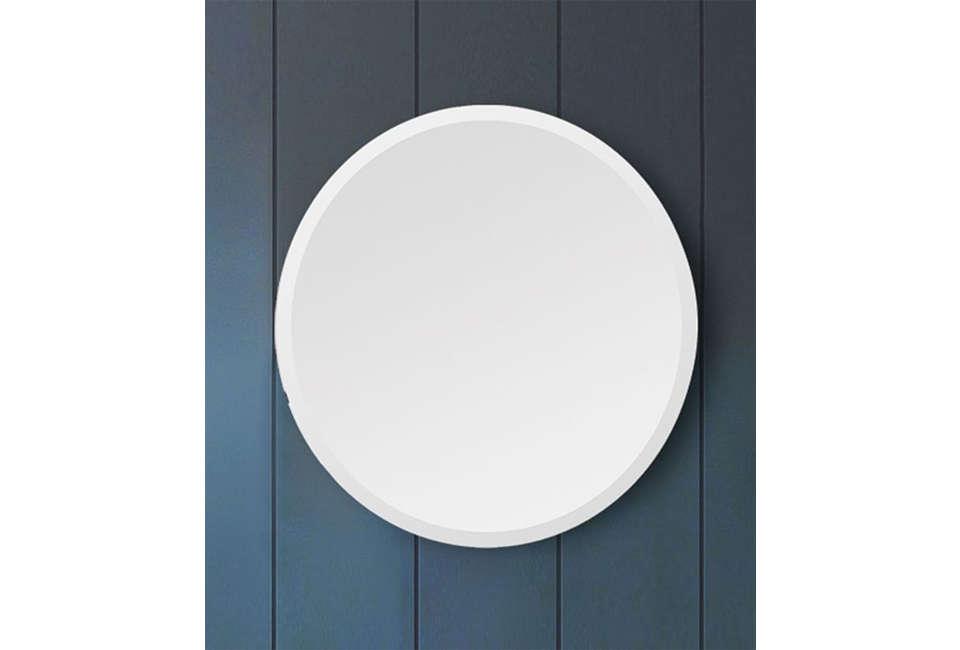 West Elm Frameless Round Mirror
