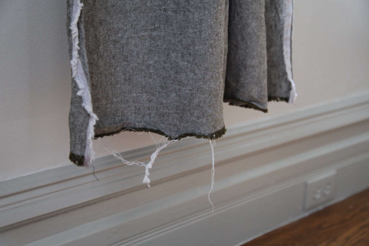 diy curtains with a raw fringe edge 14