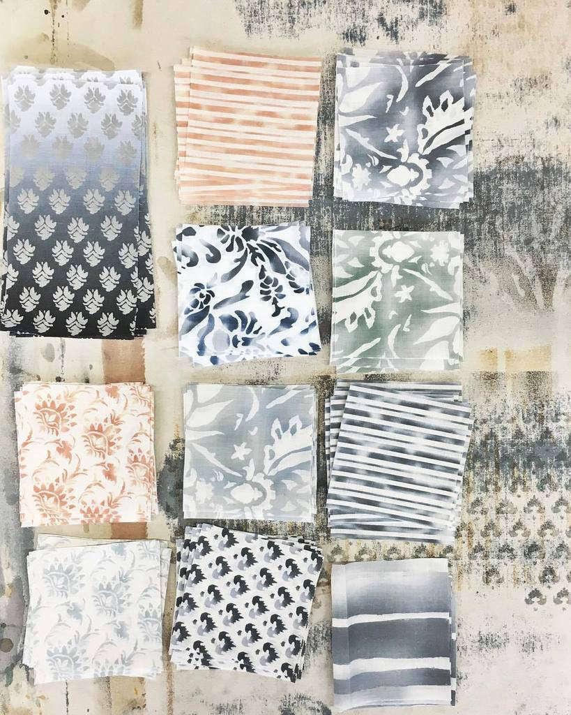 Ellisha Alexina screen printed fabric 2