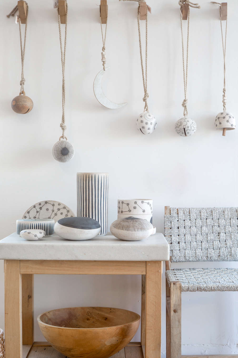 M Quan Studio handmade ceramics, modern wall decor