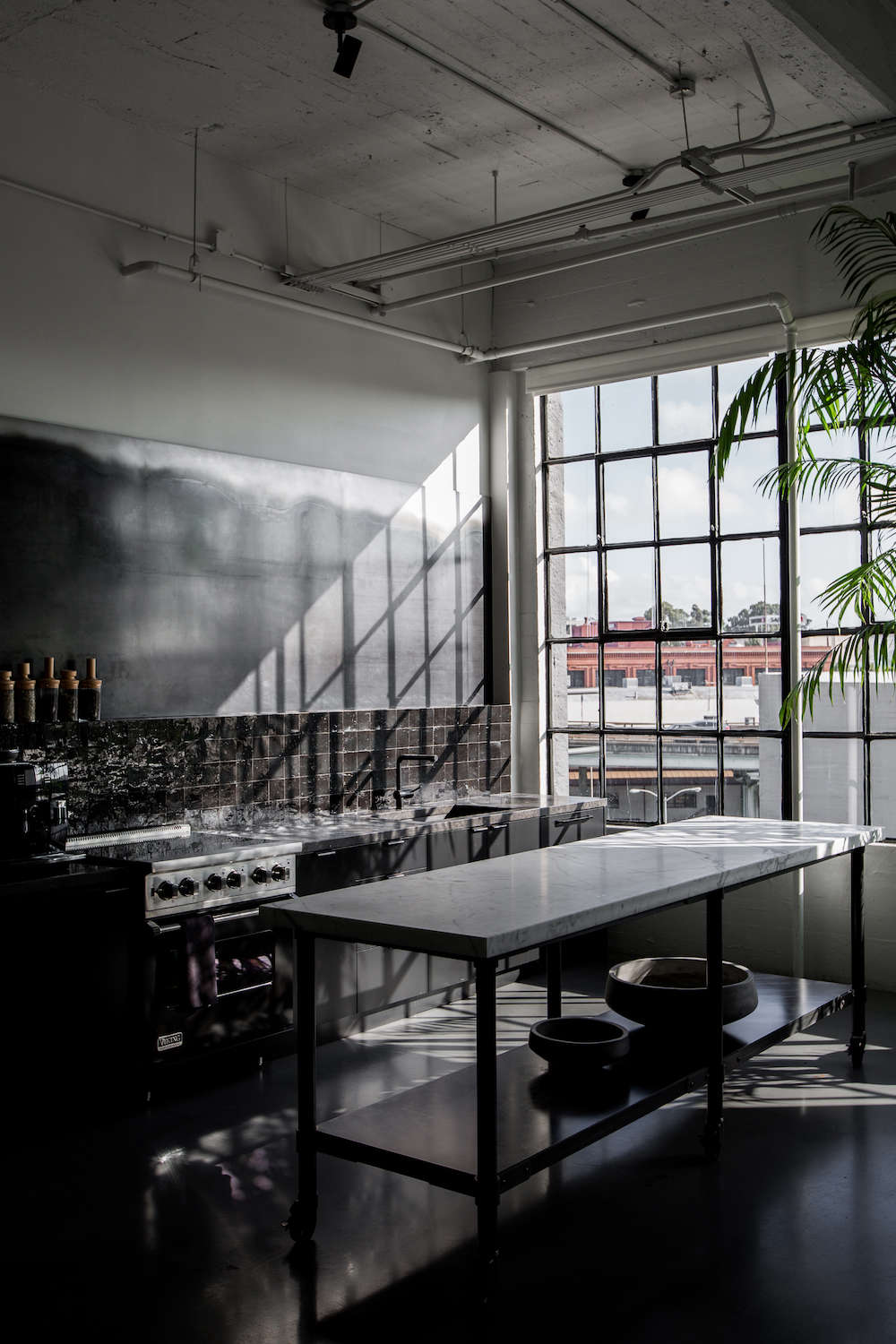 Black Industrial Kitchen in San Francisco