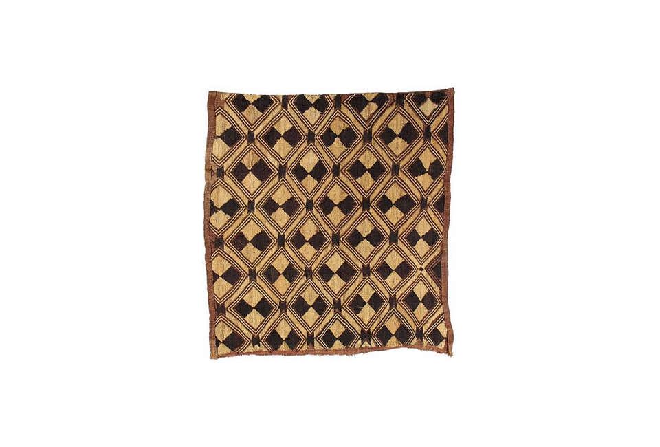African Raffia Kuba Cloth