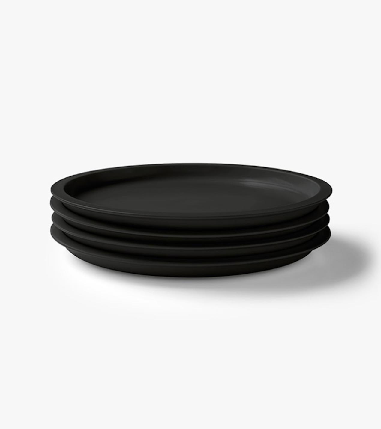 black kali dinner plate from aura home kali dinner plate 13
