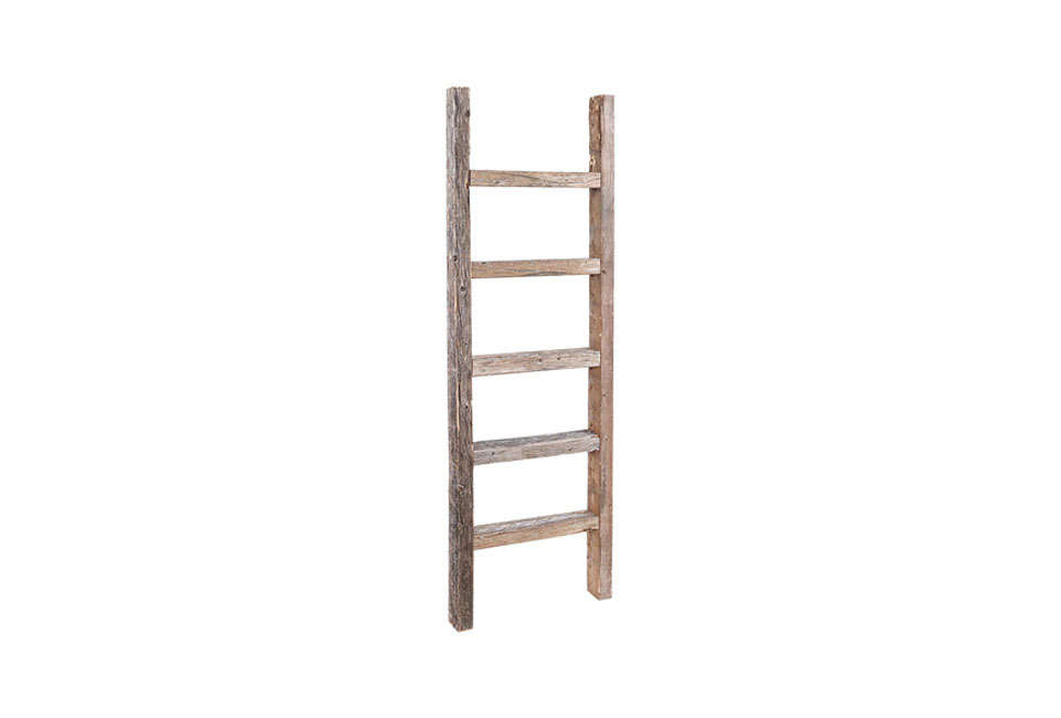 barn wood reclaimed decorative ladder 19