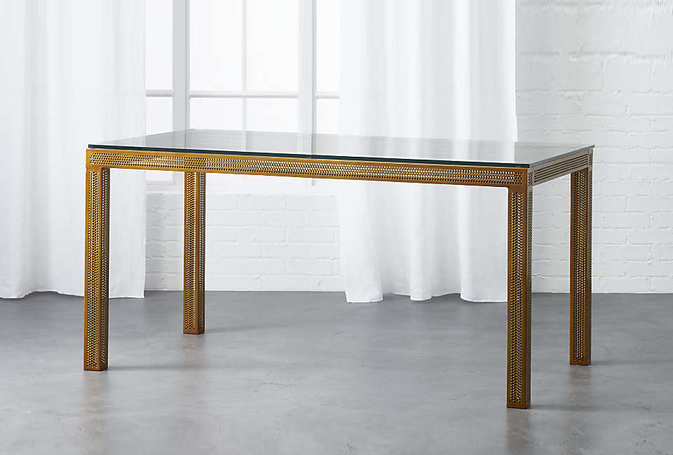 CB2 Perforated Desk