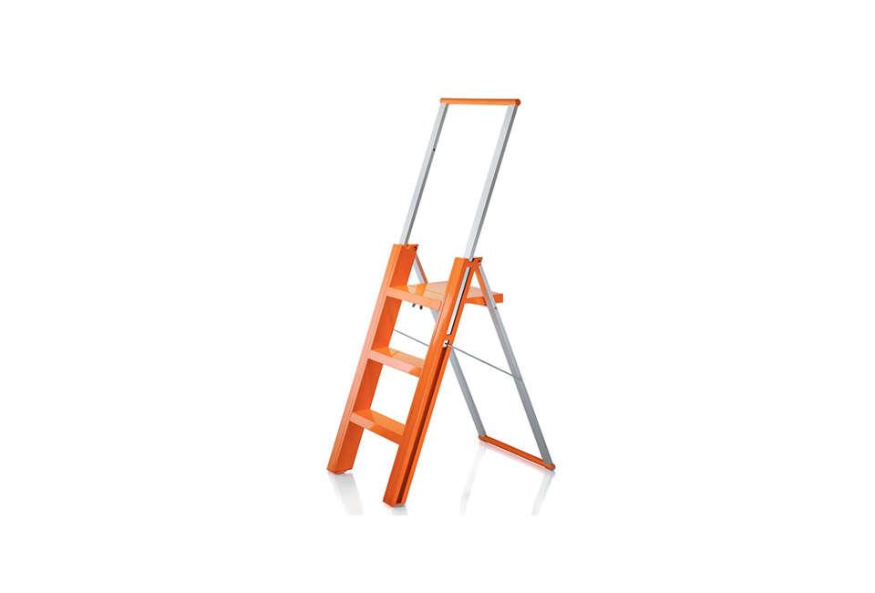 flo folding step ladder in orange 16