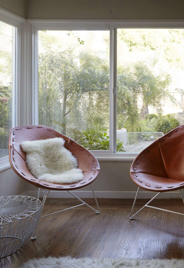 Flora Grubb's Garza Marfa Chairs in her Berkeley Bungalow