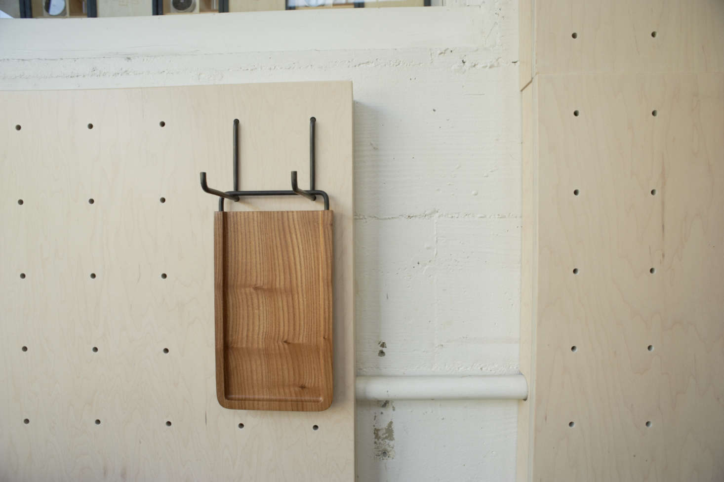 Cutting Board Hanging from Pegboard at Front Cafe by Yvonne Mouser, Photo by James Newman