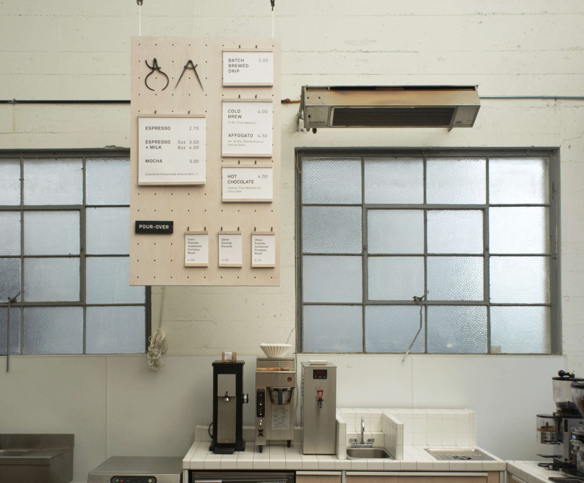 Menu at Front Cafe by Yvonne Mouser, Photo by James Newman