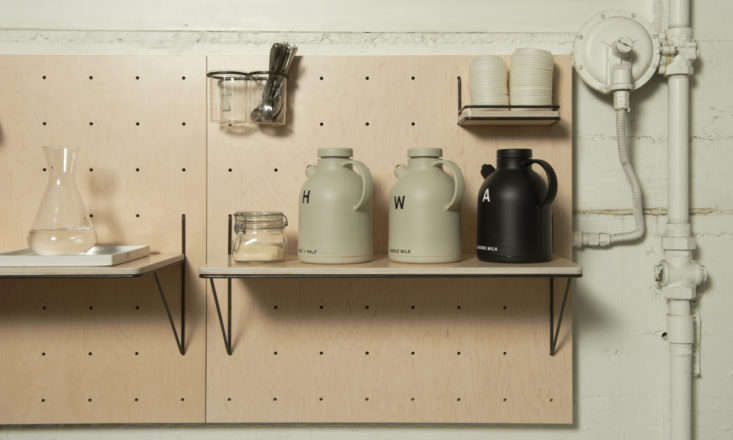 Peg boards are multifunctional and offer endless storage possibilities. For more, see Versatile Function: Pegboard Organizers by Yvonne Mouser. Photograph by James Newman.