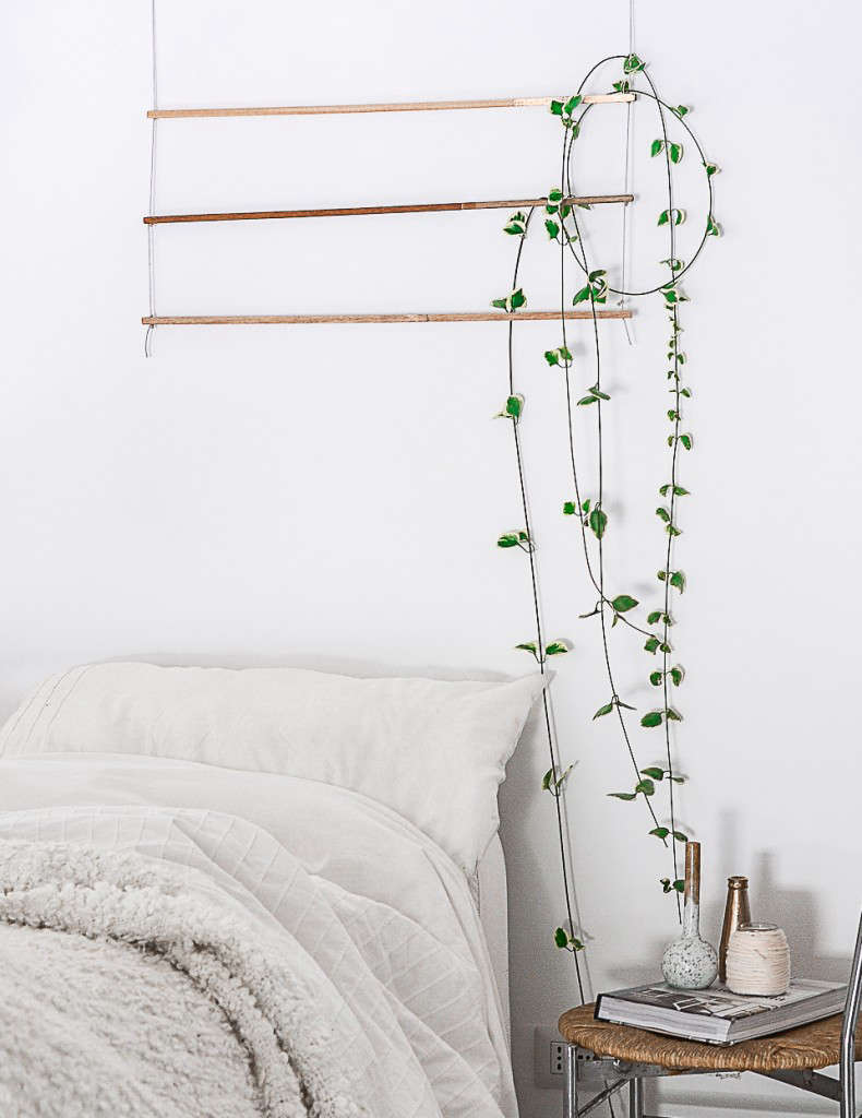 Indoor Vines on Trellis DIY by Agata Dimmich on Remodelista