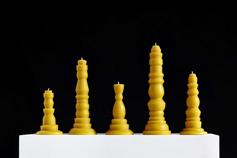 helen levi beeswax candles unlit 11