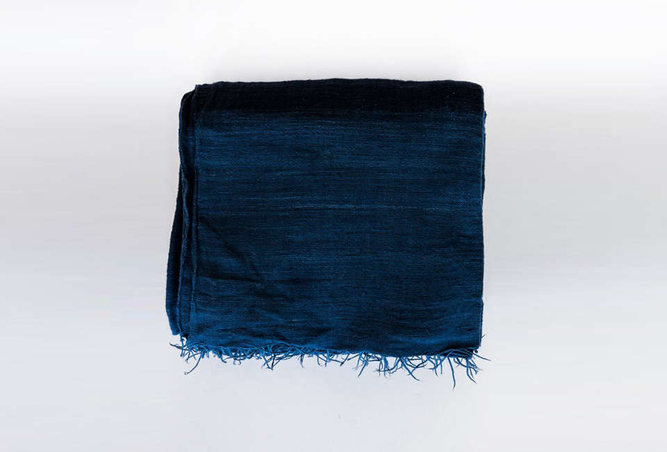 Lost and Found Ethiopian Throw Blanket in Indigo