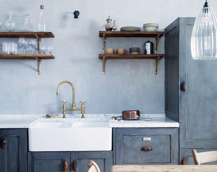 costume designer turned interiors designer mark lewis uses double bowl sinks in 9