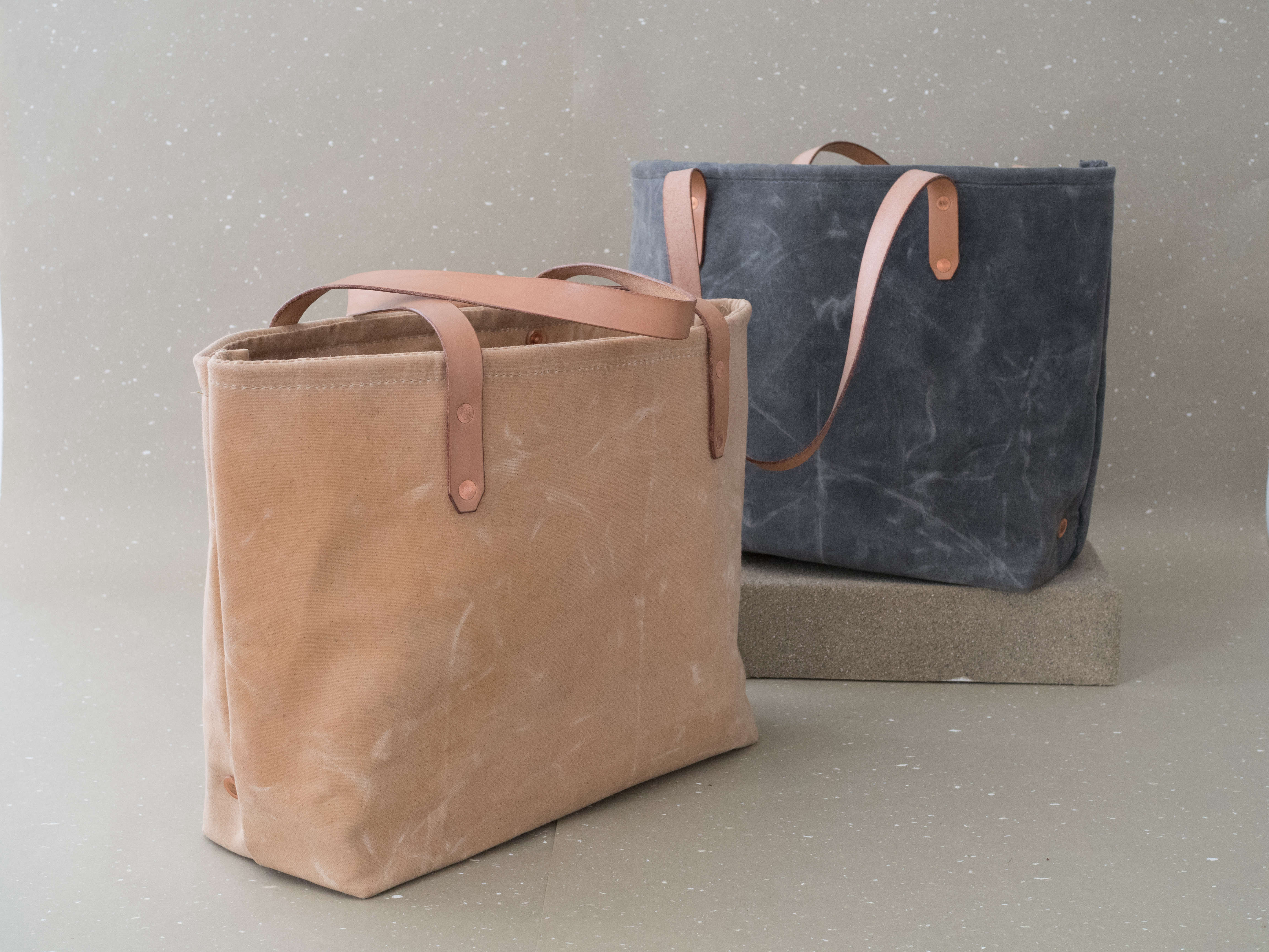 canvas beeswax totes by matt katsaros on remodelista, photo by bryson gill 14
