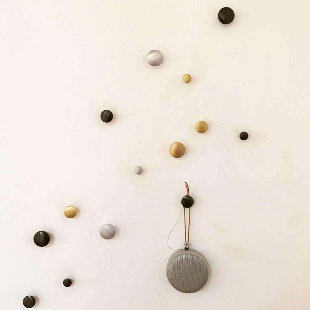 muuto dot wall hooks in metal 10