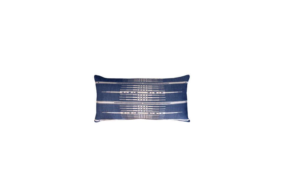 Peter Dunham Textiles Tangiers Indigo Lumbar Pillow