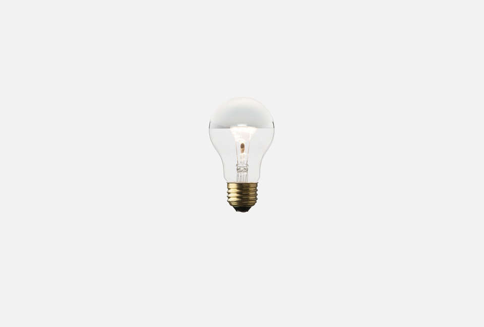 Pair the sconce with a Silver-Tipped Bulb; $8 from Schoolhouse Electric.