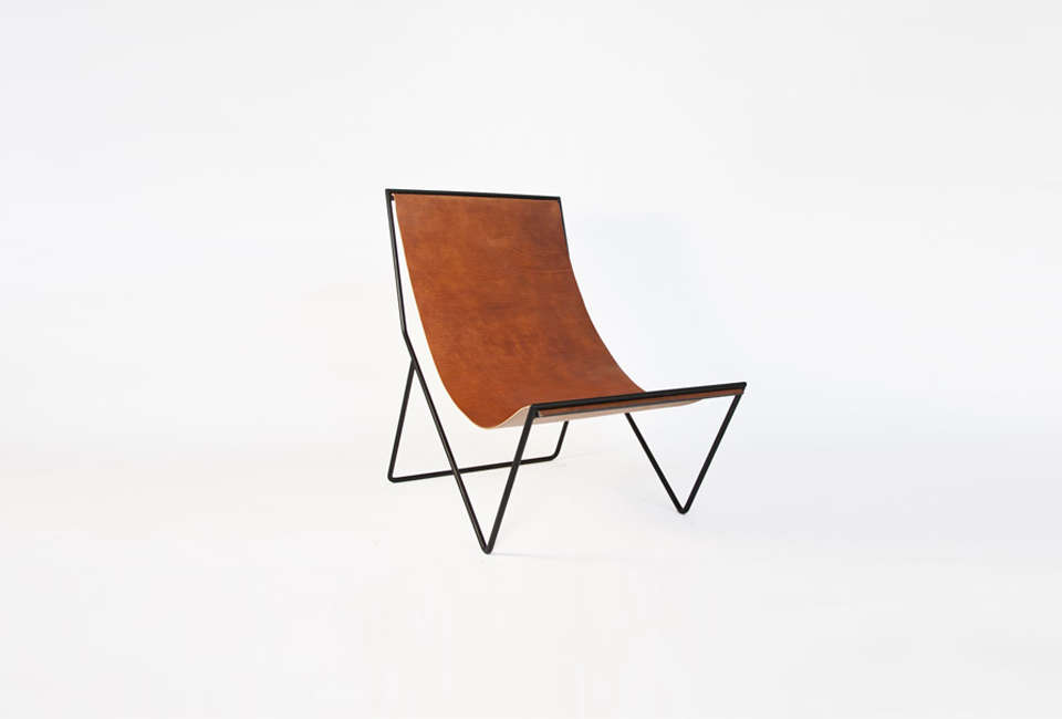 Sit and Read Leather Sling Chair