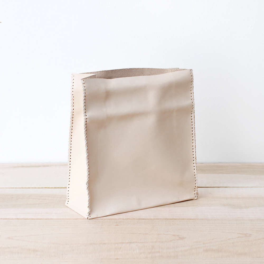 sonia scarr's leather paper bag 14