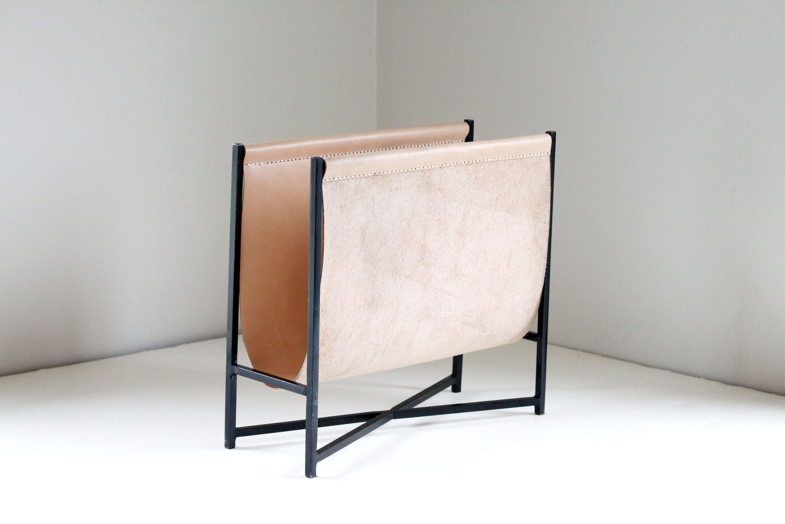 sonia scarr's leather magazine rack 9