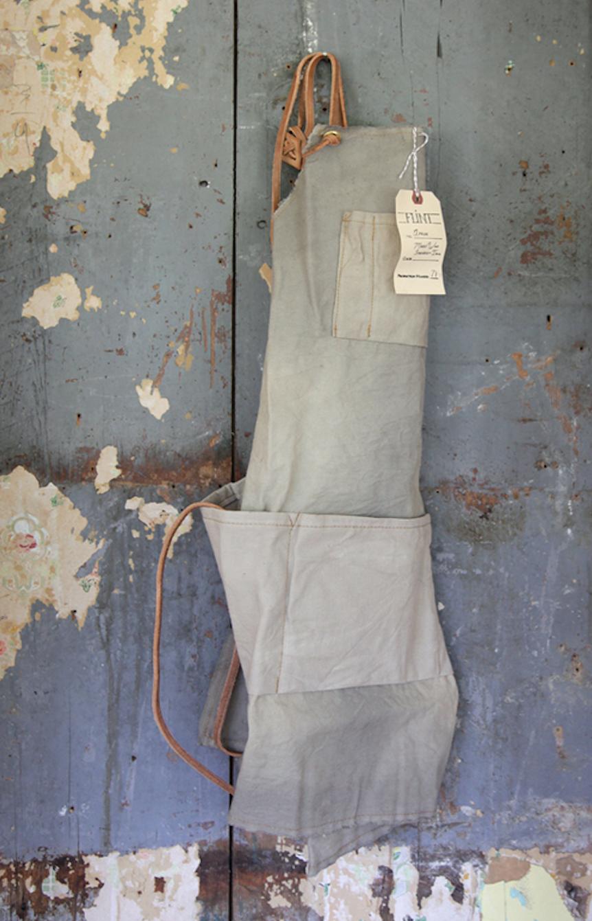 grey canvas apron by matt katsaros via straw and gold on remodelista 13