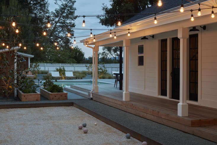 Garden and Bocce Court by Terremoto at Night