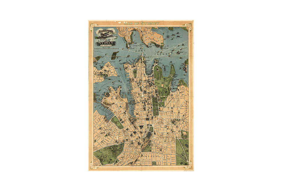Vintage Map of Sydney Australia