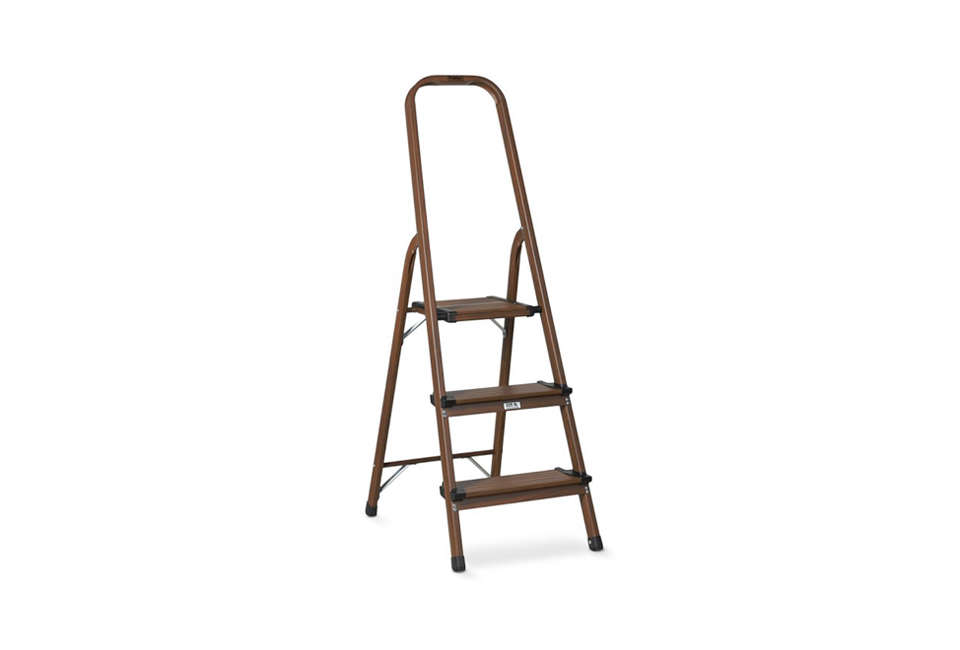 williams sonoma 3 step wood aluminum ladder 17