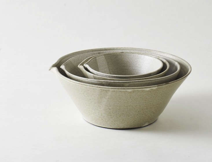 Kam Stacking Mixing Bowls in Oatmeal color by Eric Bonnin