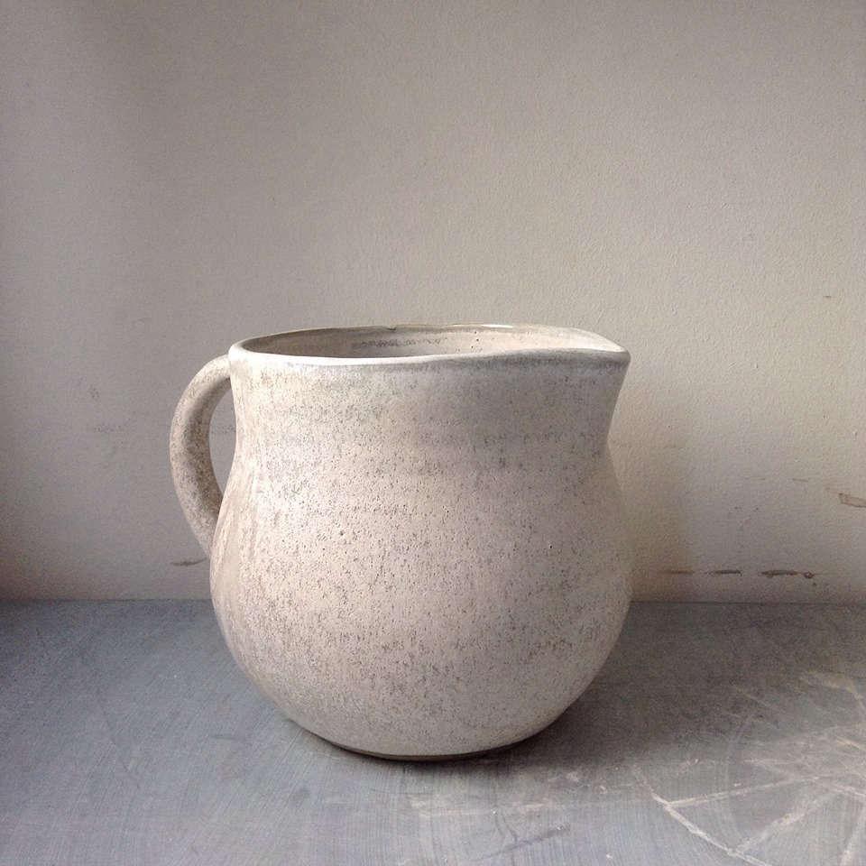 speck and stone ceramics ontario round pitcher 12