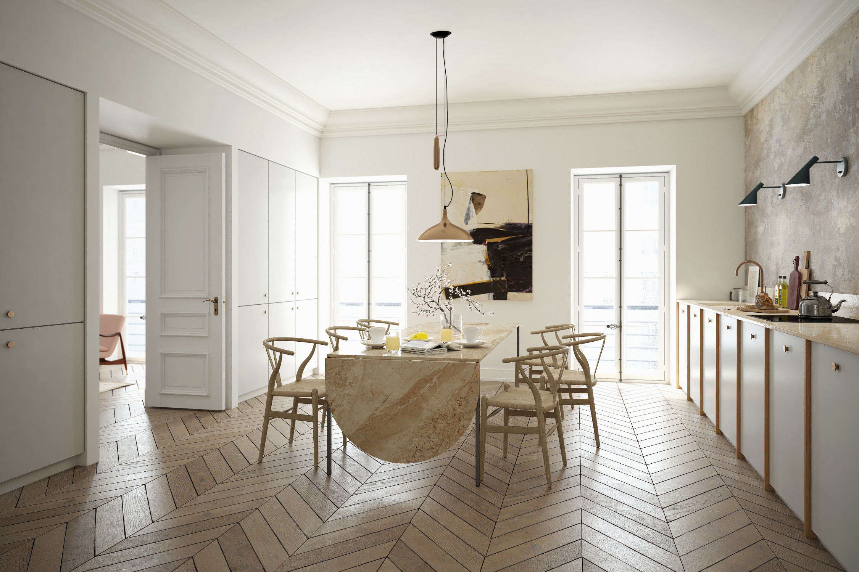Finnish company A.S. Helsingöoffers oak cabinet fronts that coordinate with Ikea&#8