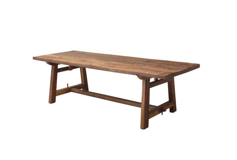 Andy Thornton Large Patina Teak Refectory Table