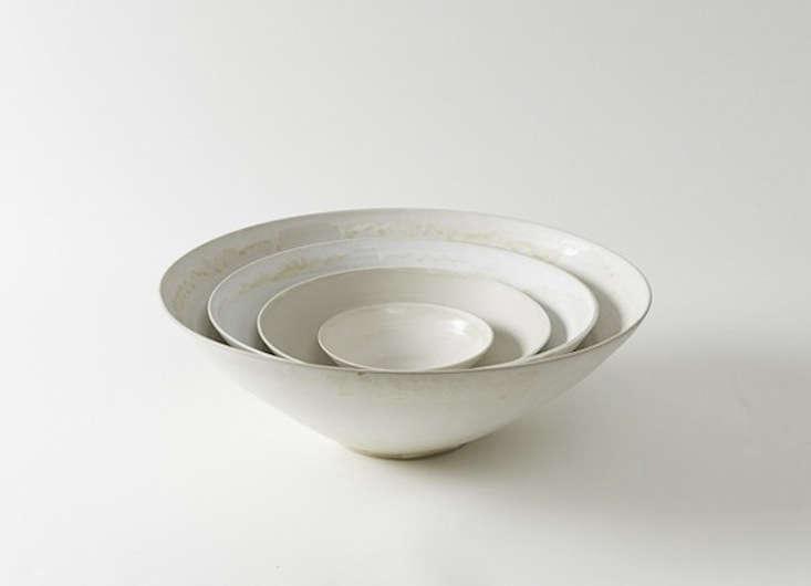 Christiane Perrochon White Beige Stoneware Bowls