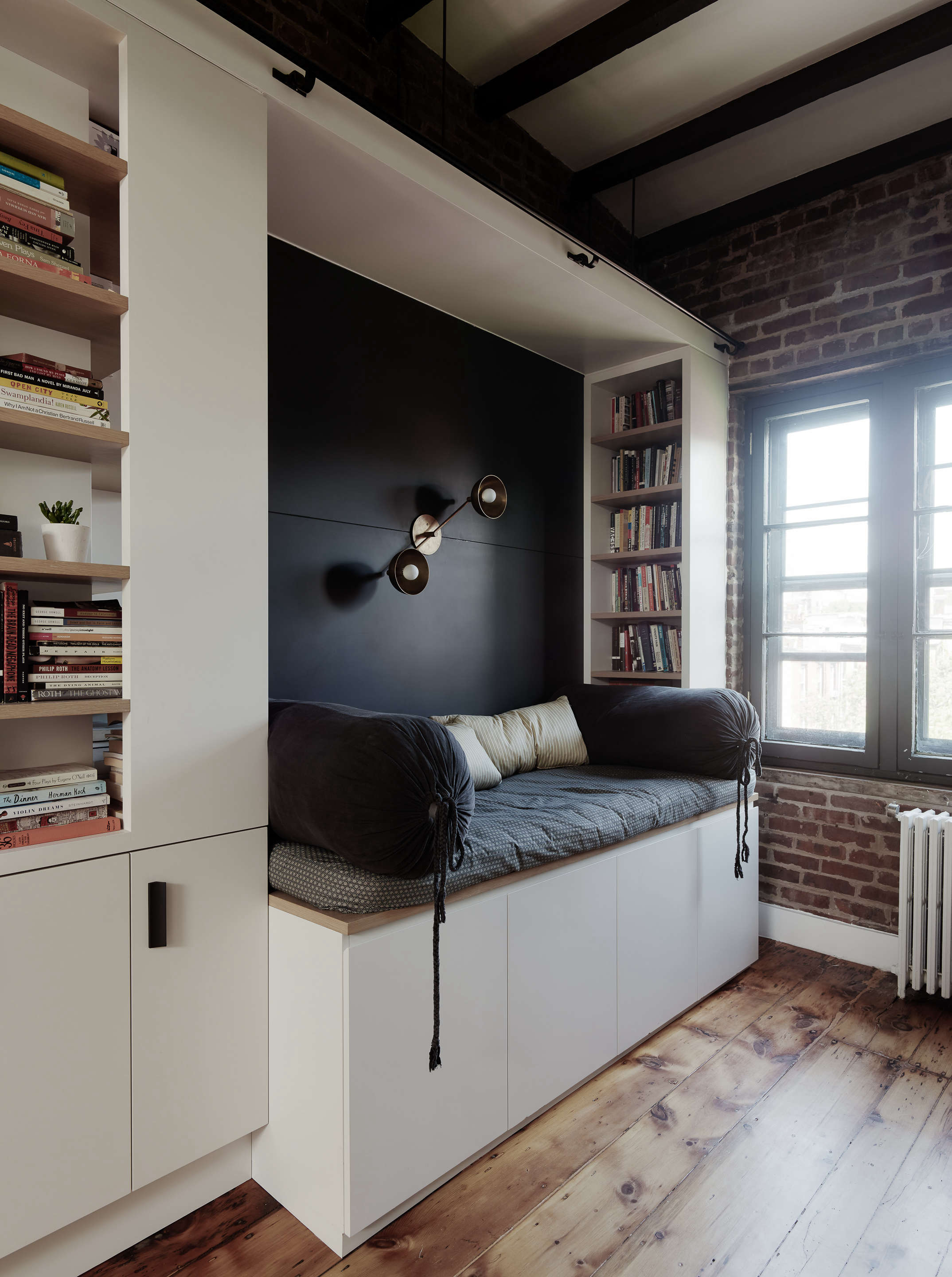 daybed sofa built in with dark navy wall general assembly