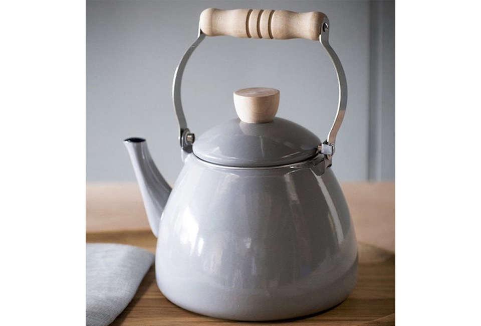 forest grey enamel stove kettle 4 11