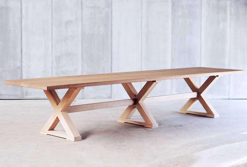 Heerenhuis Double Cross Solid Oak Table