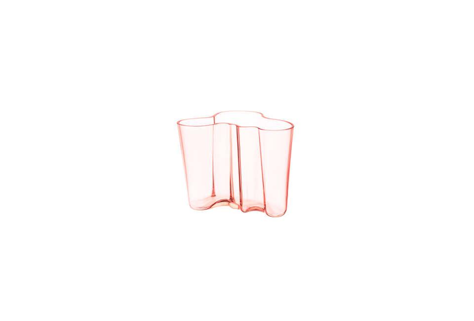 Iittala Aalto Vase in Salmon Pink Glass