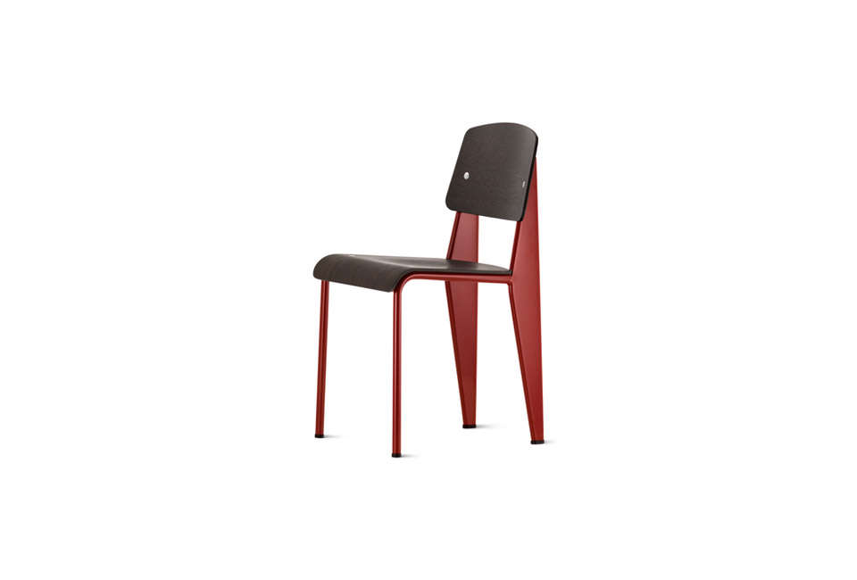 Jean Prouve Standard Dining Chair in Red