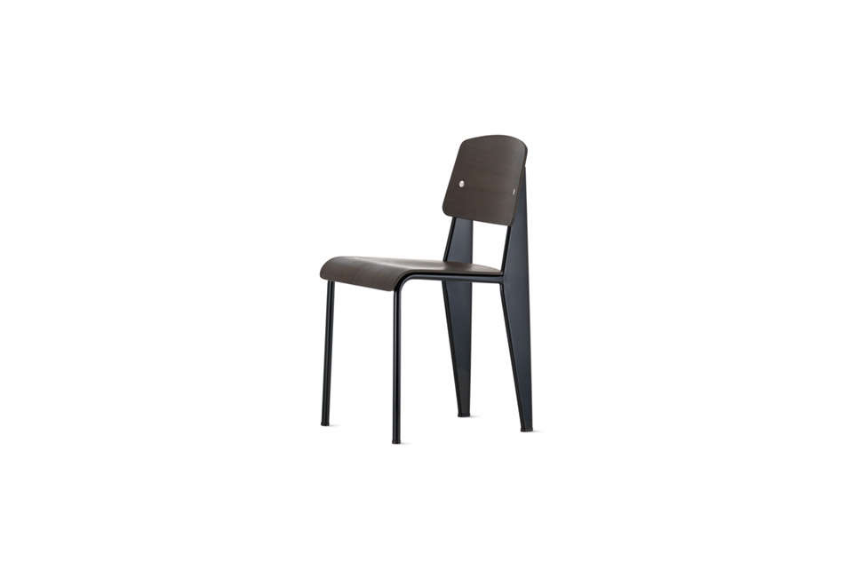Jean Prouve Standard Dining Chair in Black