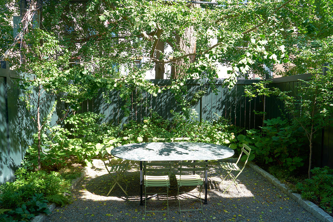 jen catto's brooklyn townhouse backyard garden douglas lyle thompson 12