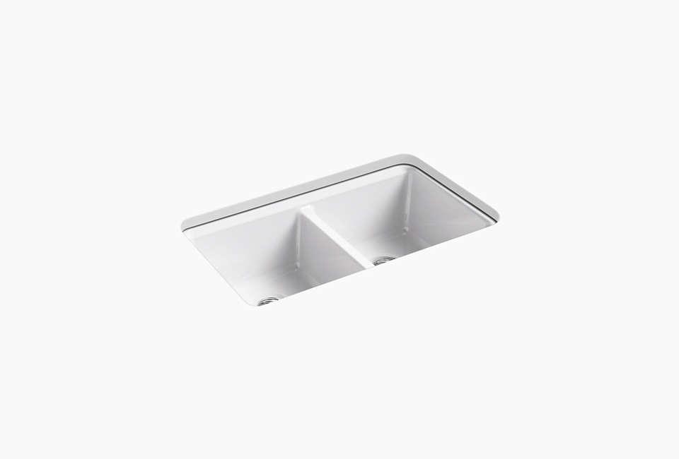 Kohler Under-Mount White Kitchen Sink