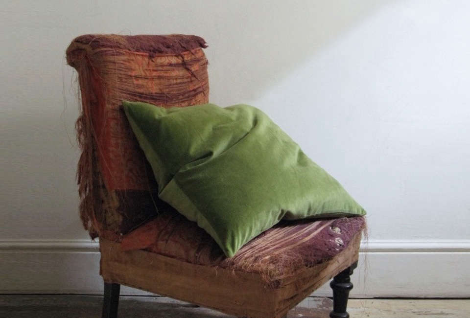 Steal This Look A Country House with Selective Color Kristen Hecktermann Cactus Velvet Pillow