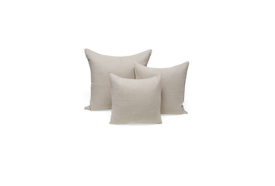 Steal This Look A Rustic Farmhouse Living Room in Upstate New York Libeco Napoli Linen Throw Pillows