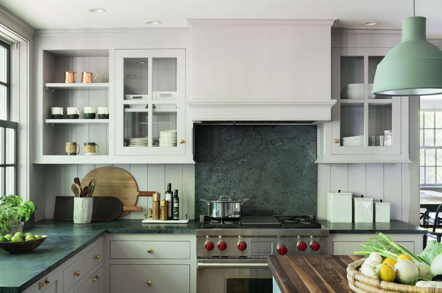 modern-farmhouse-renovation-kitchen-light-gray-paint-soapstone-countertops