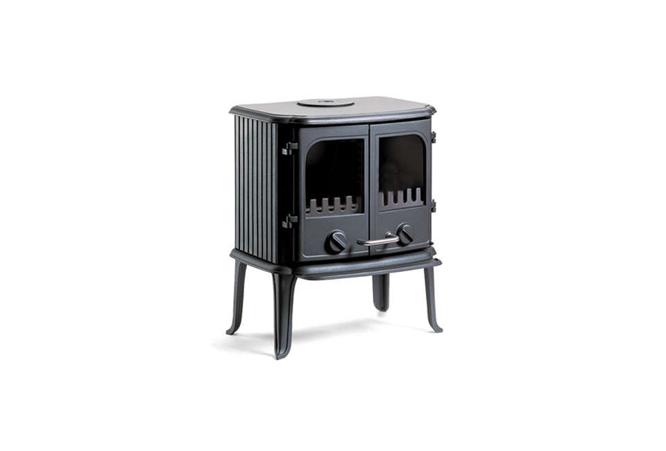 Steal This Look A Country House with Selective Color Morsø 2110 Freestanding Stove